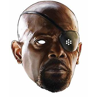 Nick Fury Avengers Age of Ultron Single Card Party Face Mask