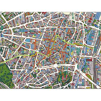 Cityscapes Street Map Of Nottingham 400 Piece Jigsaw Puzzle 470mm x 320mm (hpy)