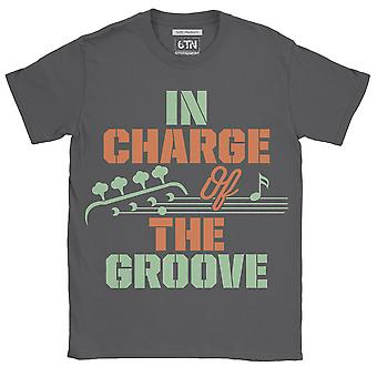 In charge of the groove bass guitarist t shirt musician guitar player