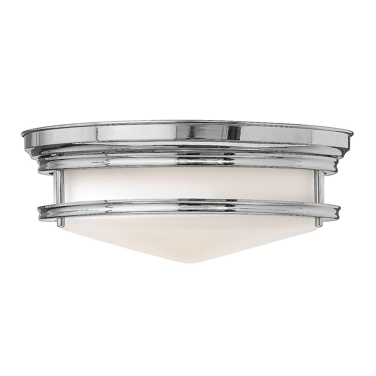 Elstead - 3 lumière Semi Flush Ceiling lumière Chrome - HK HADLEY F CM