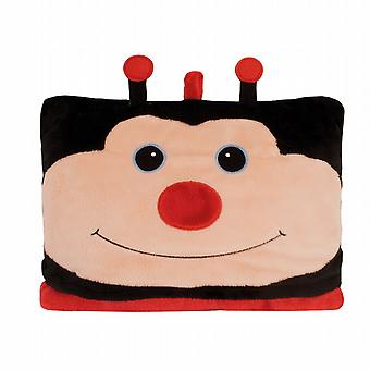 Aroma Home Cosy Up Kids Animal Hooded Blanket: Ladybird