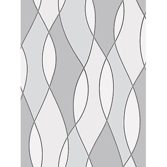 Apex Wave Geometric Wallpaper Fine Decor