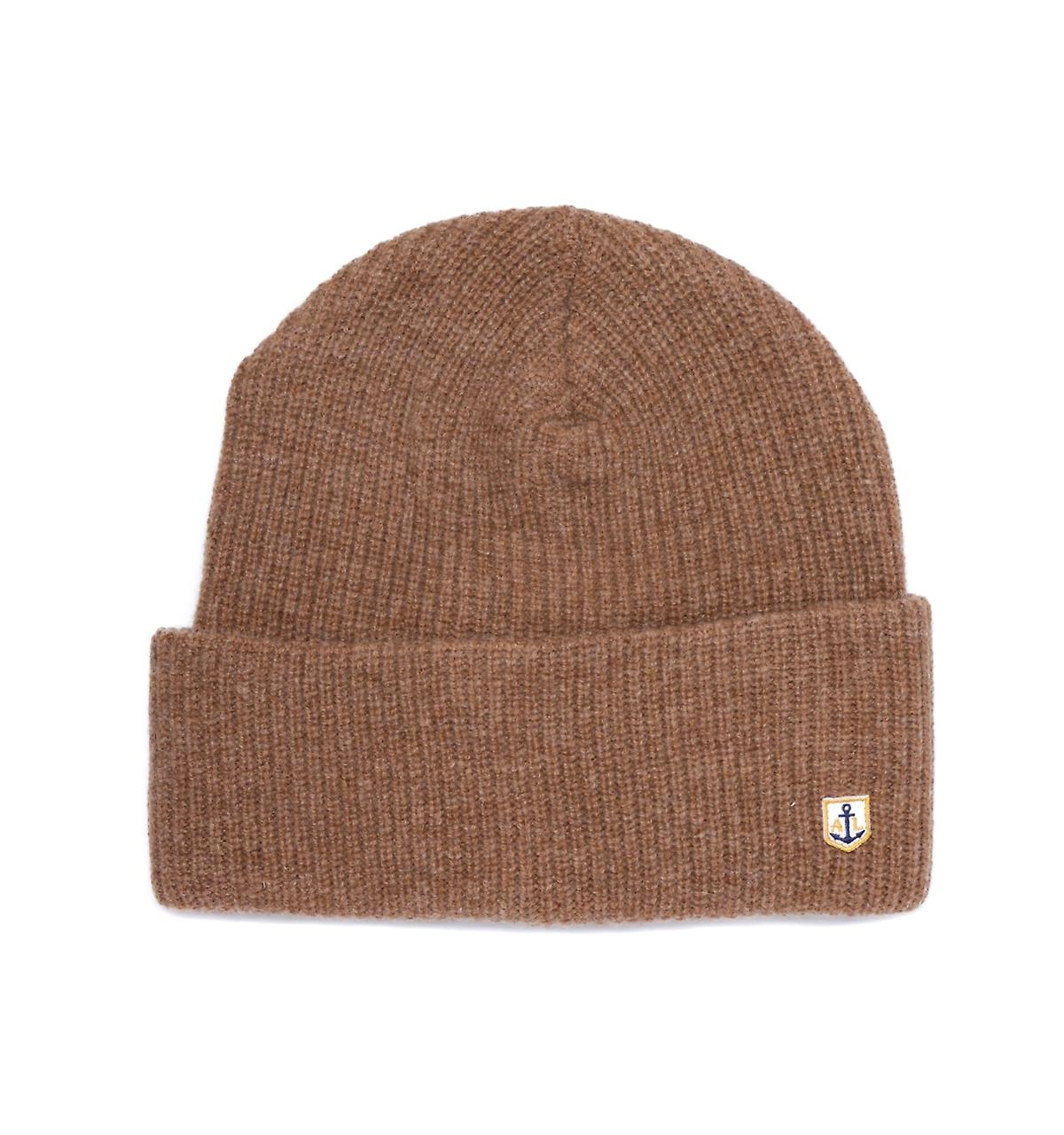 Armor Lux Logo Tab Light marron Beanie