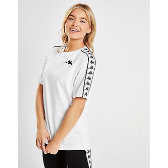 New Kappa Tape Boyfriend Logo T-Shirt White