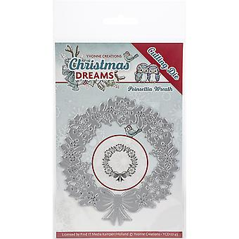 Find It Trading Yvonne Creations Die-Poinsettia Wreath, Christmas Dreams