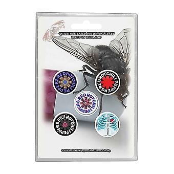 Rote Hot Chili Peppers Pin Abzeichen Im mit Ihnen Band Logo neue offizielle 5 Pack