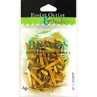 Eyelet Outlet Round Brads 8mm 40/Pkg-Yellow BRD8MM-710H
