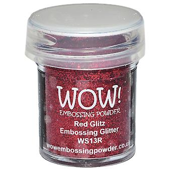Wow ! Embossage poudre 15Ml paillettes rouge Wow Ws13r