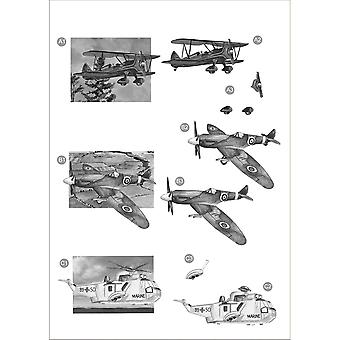 3 D Die Cut Decoupage Sheet Monochrome Planes 700