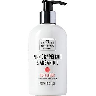 Scottish Fine Soaps Pink Grapefruit & Argan Oil Hand Lotion