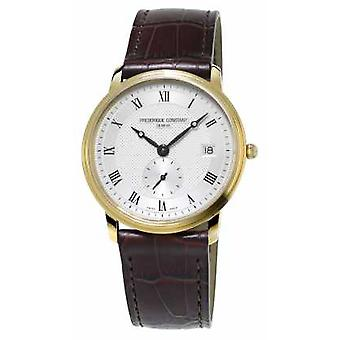 Frederique Constant Slimline Mens Ultra Slim Gold Plated Leather Strap FC-245M4S5 Watch