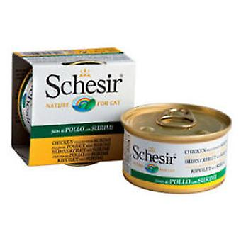 Schesir Chicken Fillets with Surimi in Gelatine (Cats , Cat Food , Wet Food)
