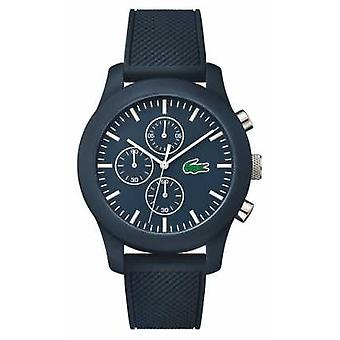 Lacoste Unisex Navy Rubber Strap Navy Chronograph Dial 2010824 Watch