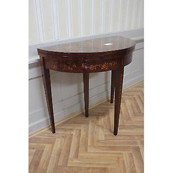 Baroque side - table Folding table antique style marquetry MkTa0019