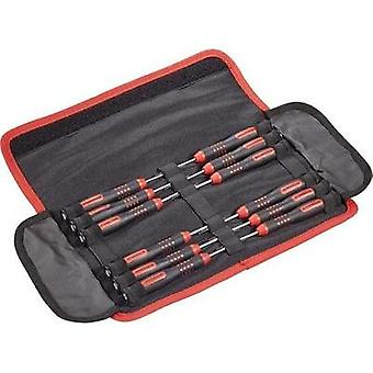 Electrical & precision engineering Screwdriver set 12-piece TOOLCRAFT Slot, Phillips, Torx