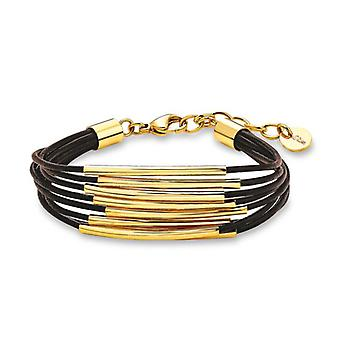 s.Oliver jewel ladies leather bracelet stainless steel IP gold SO1163/1 - 507929