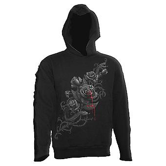 Spiral Direct Mens Fatal Attraction Hoodie Hoody Hooded Jumper Black Rose Floral
