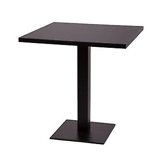 Gorzan Large Or Table Kitchen Dining Table Cast Iron Base Square Slimline Flat Base Square Table Top 120X70Cm