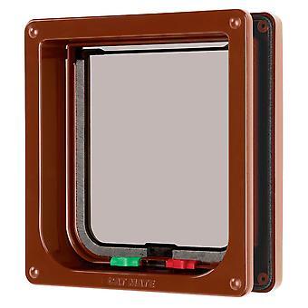 4 måde låsning Flap & Liner Brown 16.5x17.4cm