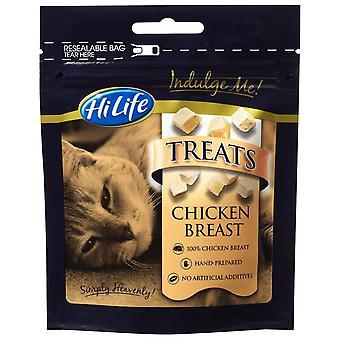 Hilife forkæle mig kat omgås kyllingebryst 10g (pakke med 12)