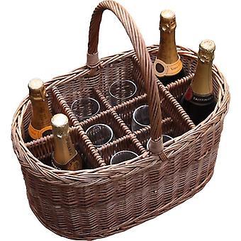 Oval Festival Drinks Basket