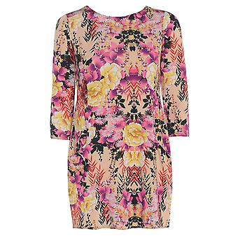 Pink Floral Satin Look Top TP416-S
