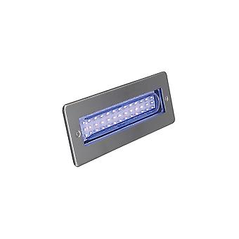 Ansell Libretto LED Bricklight Blue 2W LED Stainless Steel
