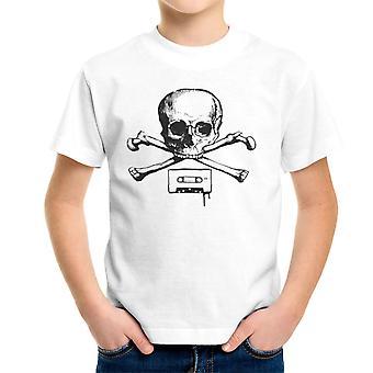 Old Fashion Pirate Black Kid's T-Shirt