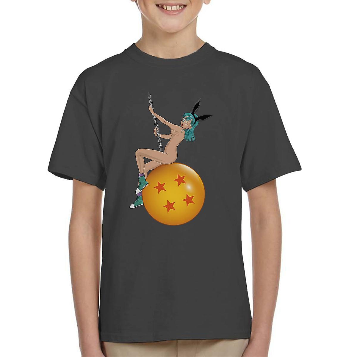 (Medium, White) Bunny Ball Bulma Dragon Ball Z Mens T