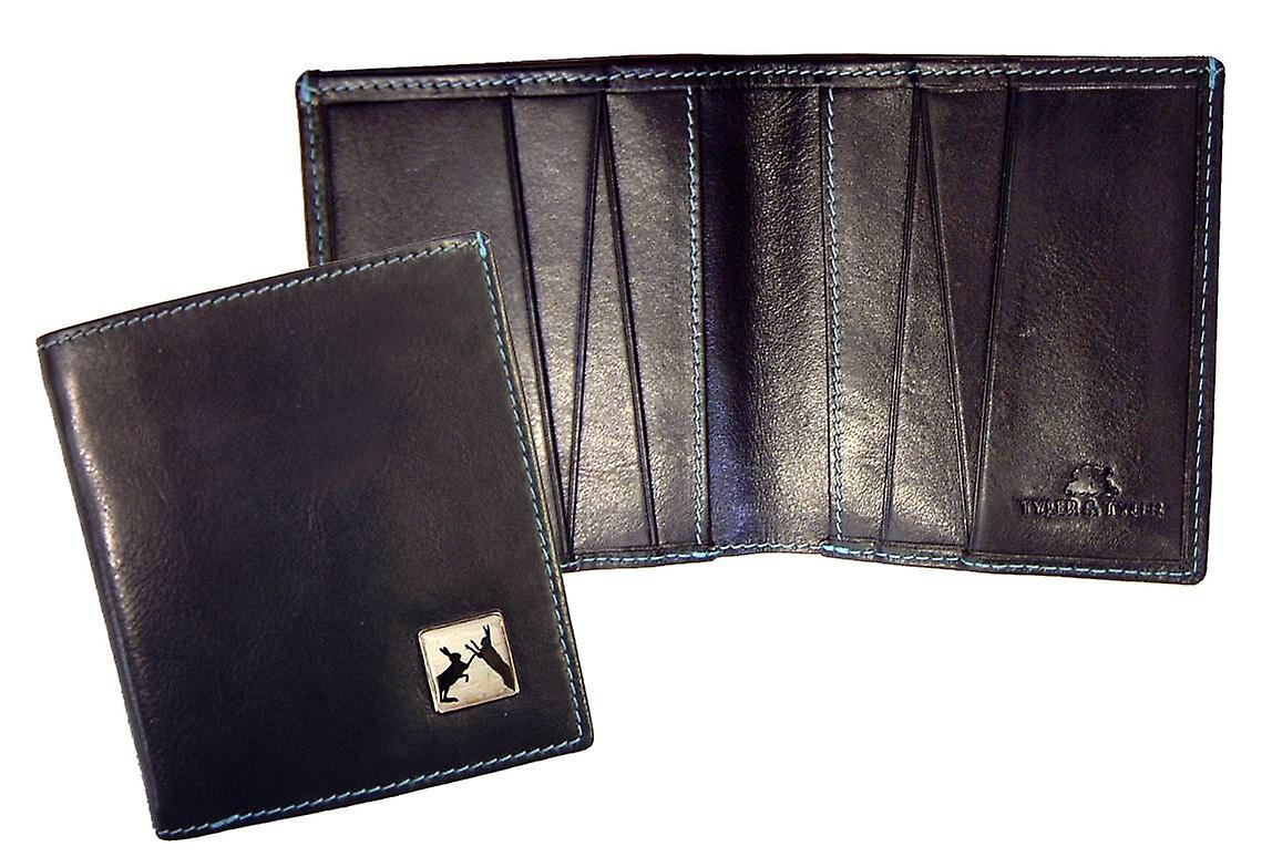 Tyler and Tyler Leather Sparring Hares Jeans Wallet - Black
