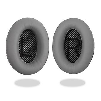 REYTID Replacement Grey Ear Pads Kit for Bose QuietComfort 15 / QC15 / QC2 Headphones Cushions - 1 Pair Earpads