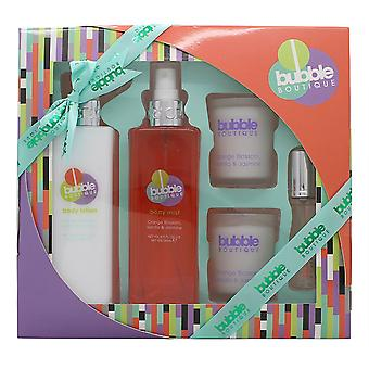 Style & Grace Bubble Boutique Bathing Experience Gift Set 250ml Body Mist + 250ml Body Lotion + 2 x 65g Candles + 15ml EDP Roller