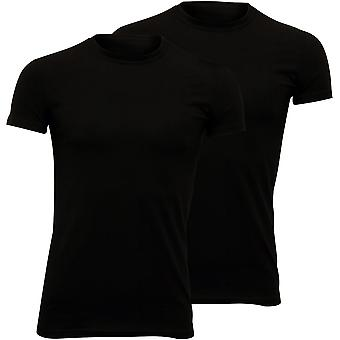 DSquared2 2-Pack Jersey Cotton Stretch Crew-Neck T-Shirts, Black