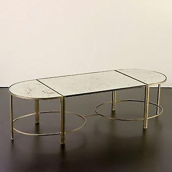 Wellindal Mirror & Metal Gold Center Table