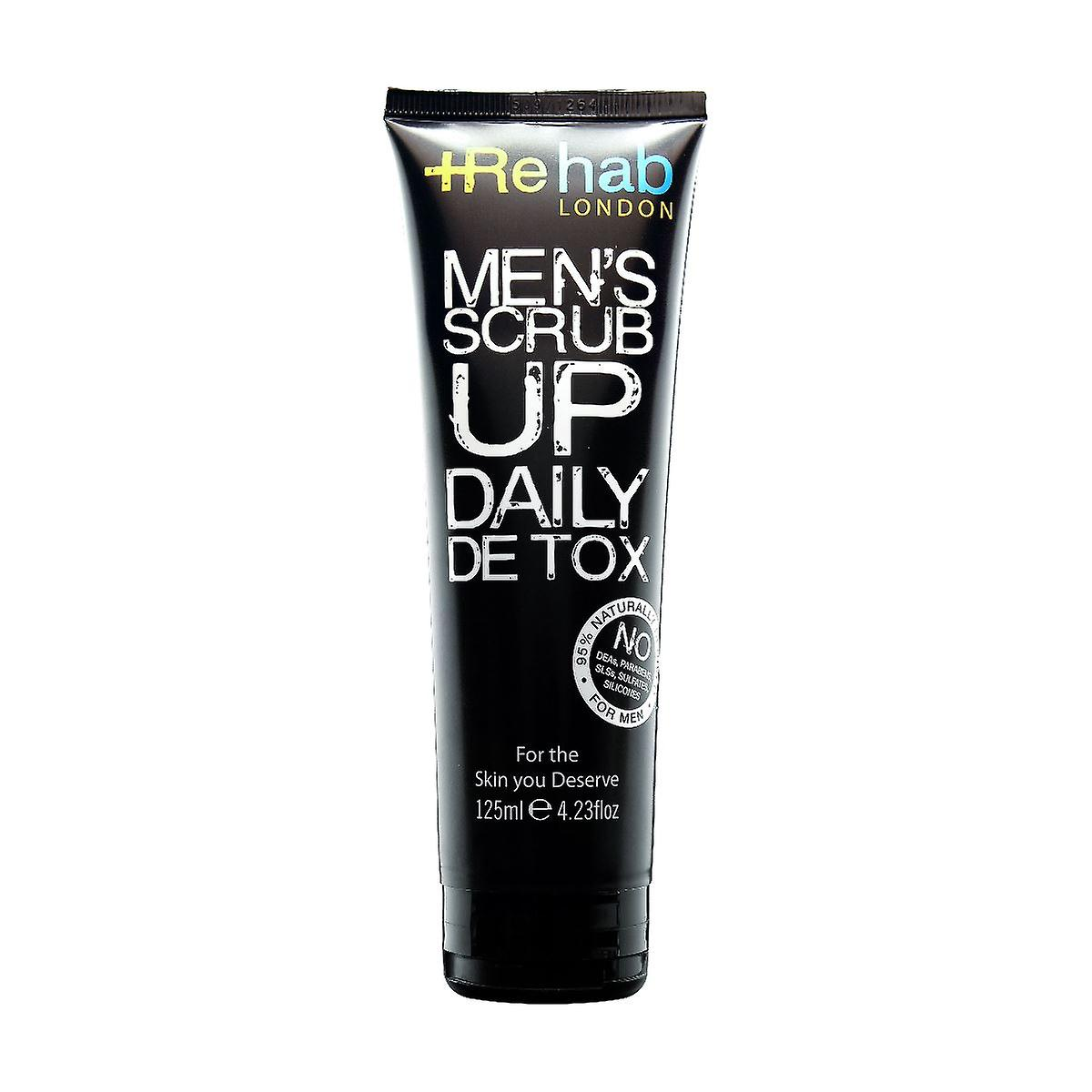Rehab London Men's Scrub Up Daily Detox 125ml