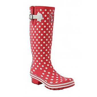 Evercreatures ladies wellies polka tall
