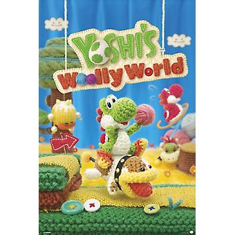 Yoshis Wooly Welt Poster Plakat-Druck
