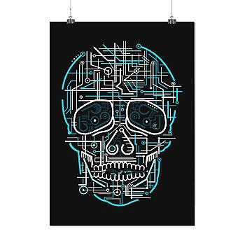 Matte or Glossy Poster with Head Face Panel Skull | Wellcoda | *d2351