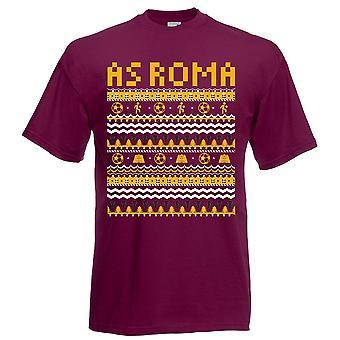 As Roma Christmas T-Shirt (Burgundy)