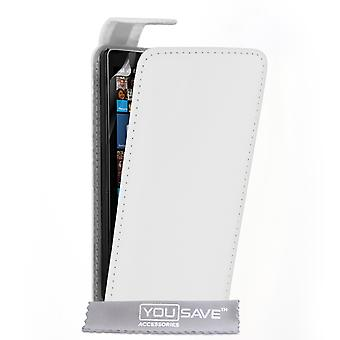 Yousave Accessories Nokia Lumia 930 Leather-Effect Flip Case - White