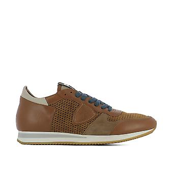 Philippe model men's TSLUHL14 brown leather of sneakers