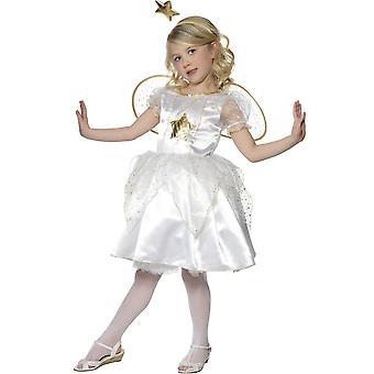 Børns kostumer hvid fe engel kostume