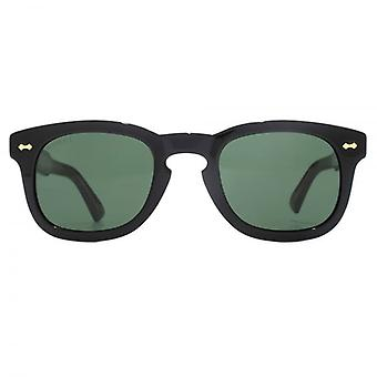 Gucci Vintage Keyhole Square Sunglasses In Black
