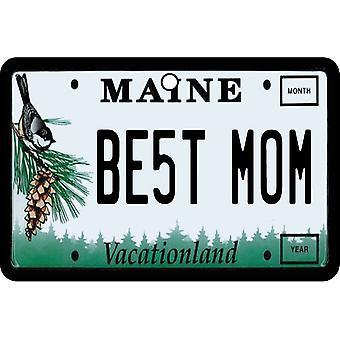 Maine - Best Mom License Plate Car Air Freshener