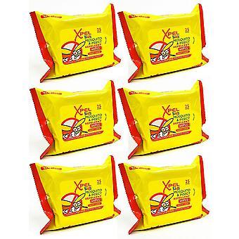 Xpel niños mosquitos y repelente de insectos 25 toallitas - Pack 6