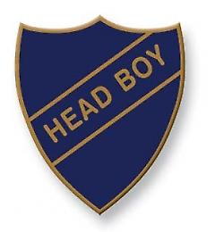 Head Boy Enamel Shield Badge, Old School Vintage Style!