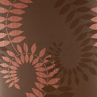 Harlequin Brown Wallpaper Roll - Patterned Virtue Energy Design - Colour: 75920