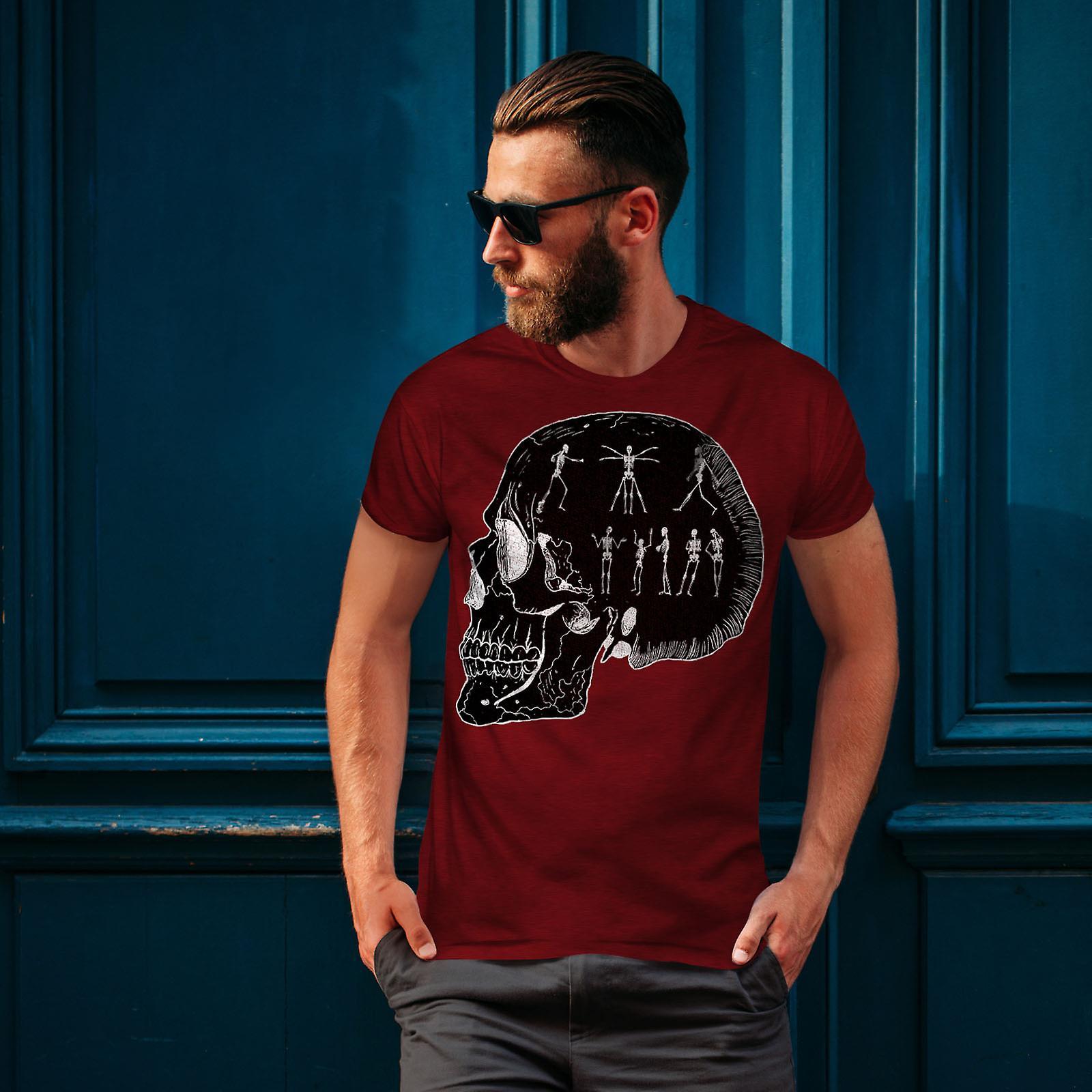 6210a497d110c2 Skelett coole Männer RedT-Shirt-Party