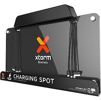 USB charging station Mains socket Xtorm by A-Solar BU101 Max. output current 12000 mA 8 x USB, Micro USB plug, Apple Do