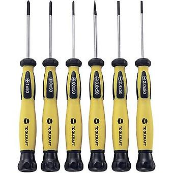 Electrical & precision engineering Screwdriver set 6-piece TOOLCRAFT Slot, Phillips